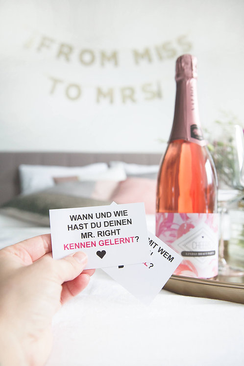 JGA, Bridal Shower, Braut Party, Bridal Party, JGA Deko, Hen Party, Sleep over, Hotel, Wellness, Dekoidee, Idee