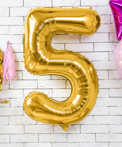"Folienballon ""5"", gold"