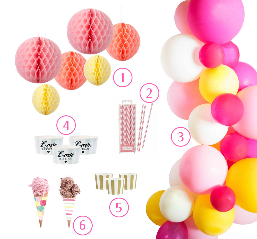 Eisparty, Sommerparty, Picknick, DIY, Partyhacks, Partyidee, Bridal Shower, Baby Party