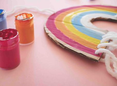 DIY Regenbogen Dekoration
