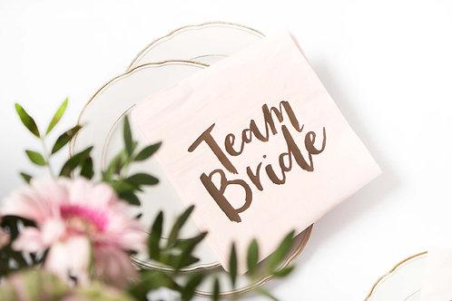 Servietten, JGA, Braut Party, Bridal Shower, Team Bride, Junggesellinnenabschied, Deko, Partydeko, Tischdeko, Bride to Be