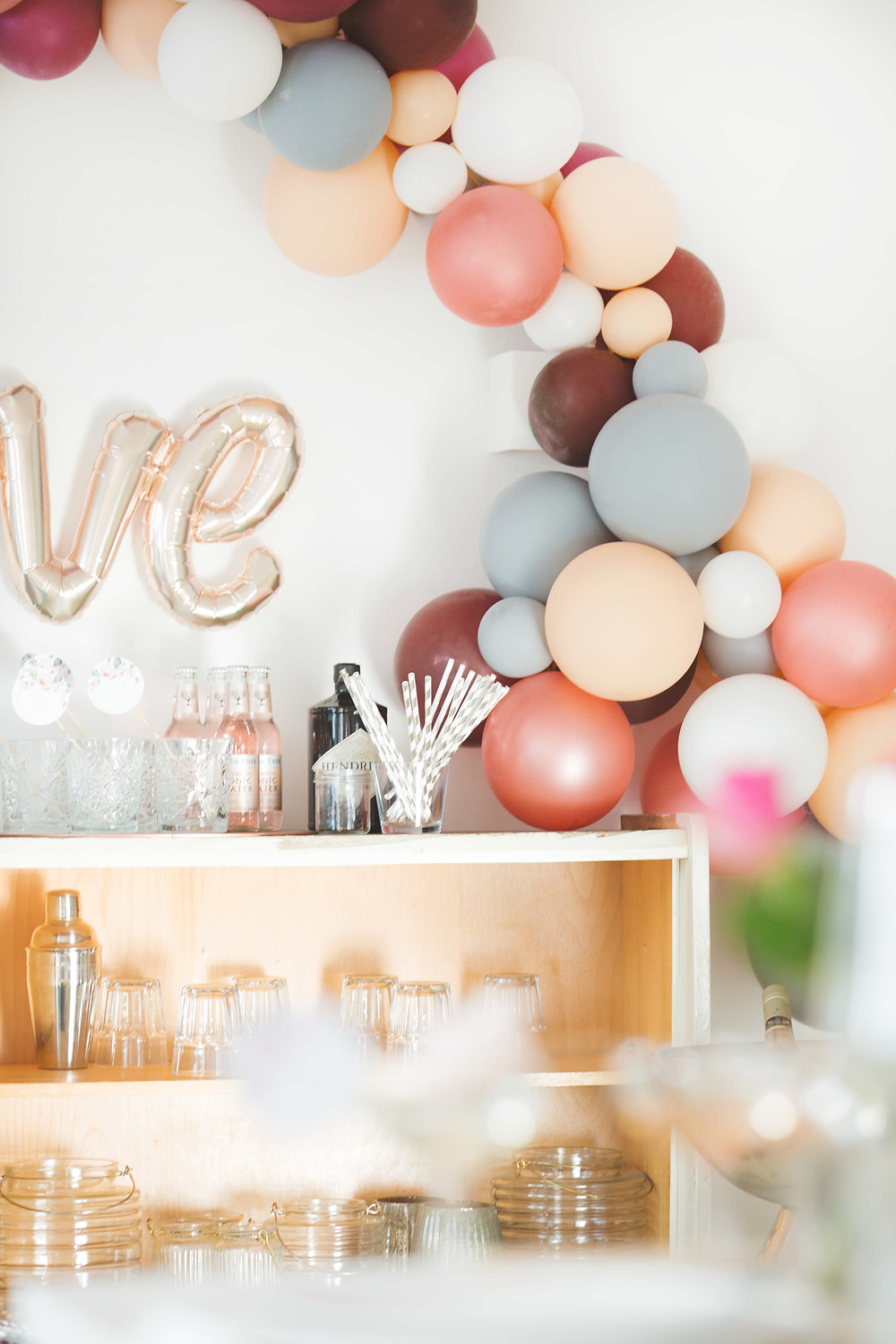 Roségoldene Party, Rosé-Party, Love, Braut Party, Baby Party, Geburtstagsparty, Partydeko, Party aus der Box, Partyidee