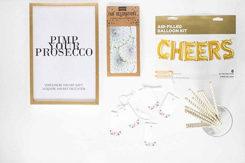 Hochzeitsdeko, Deko Hochzeit, Pimp your Prosecco Bar, Mimosa Bar, Hochzeit DIY, Hingucker, Partydeko