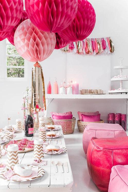 Tassel, Honeycomb, Delight Department, rosa