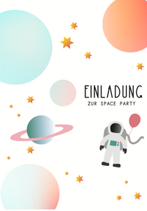 Astronauten Party, Space Party, Two the moon and back, Mottoparty, Kindergeburtstag, Weltall