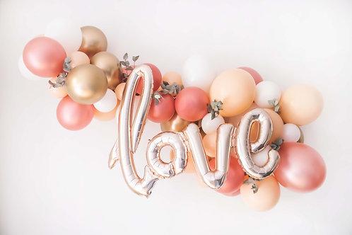 Ballon-Wolke love, rosé