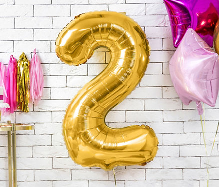 "Folienballon ""2"", gold"