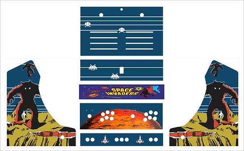 Space Invaders Bartop Cabinet