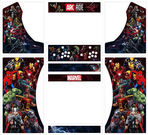 Marvel Bartop Cabinet Full