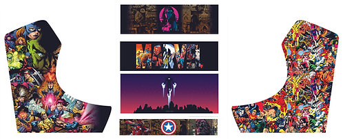 Marvel Comic Bartop Cabinet