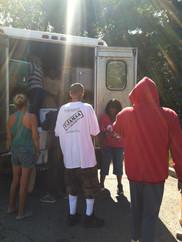 Serving from Van