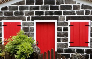 red door on an inherited house