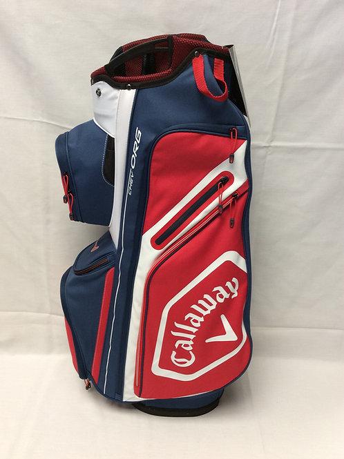 Callaway Chev Org Red/White/Blue Cart Bag