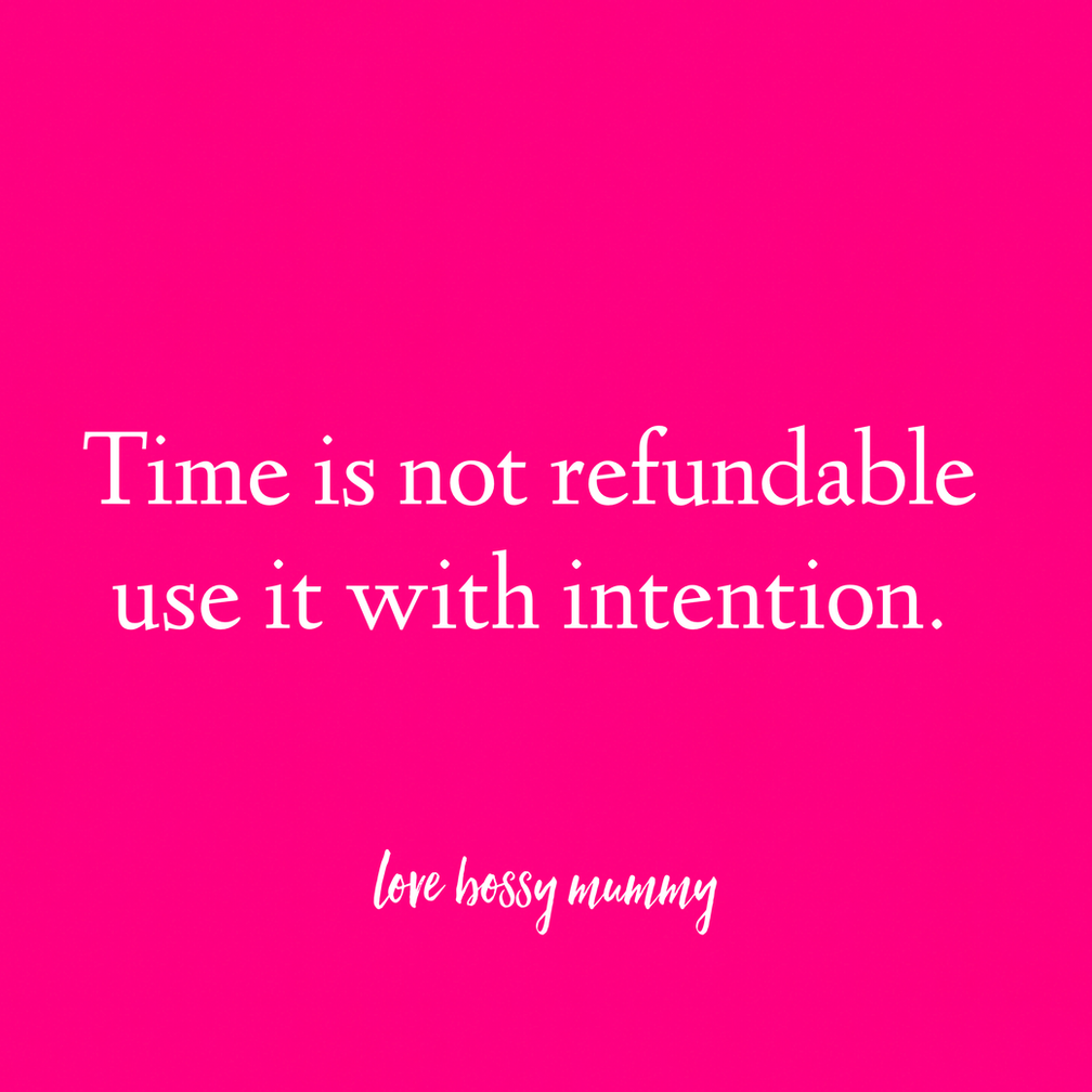 How to use your time with intention