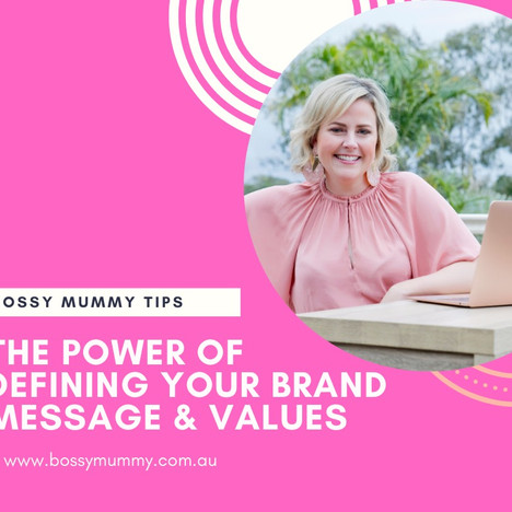 The power of defining your brand message & values.