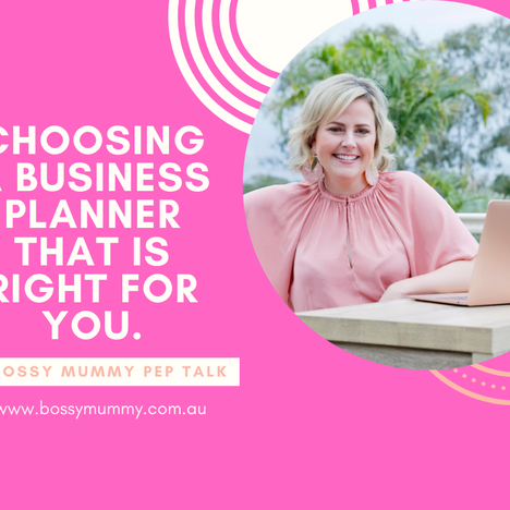 Choosing a business planner that is right for you.