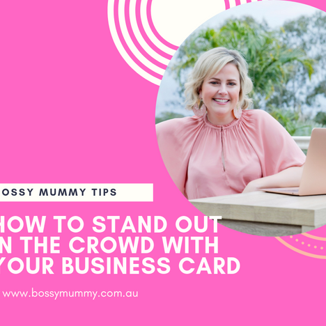 How to stand out in the crowd with your Business Card