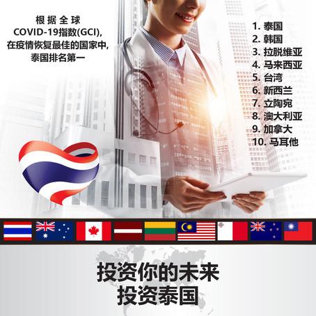 泰国在COVID-19疫情恢复方面排名世界第一