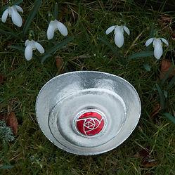 Pewter Scottish Rose Bowl