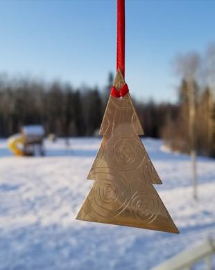 'O Christmas Tree' pewter ornament