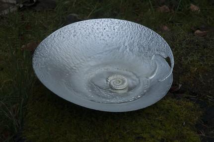 Pewter Ammonite platter