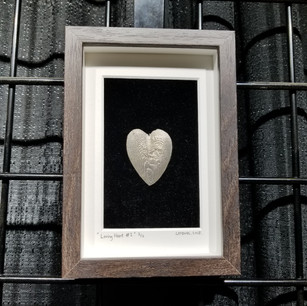 Pewter Heart wall art