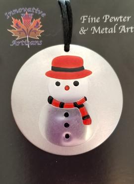 'Snowman' pewter ornament