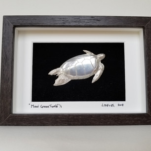 Maui Green Turtle, pewter