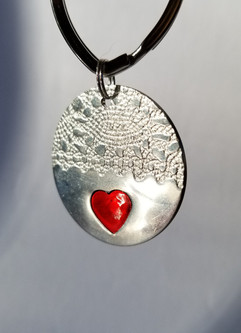 Sweetheart and Lace keyring