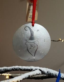 'Ho Ho Ho' pewter ornament