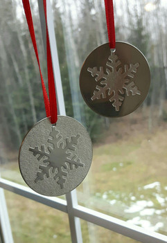 'Winter' pewter ornament