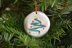 'Christmas Tree' pewter ornament