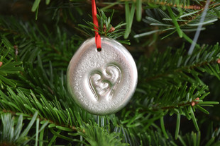 'Blessed' pewter ornament