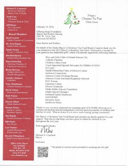 Olathe Mayor's Christmas Tree Fund