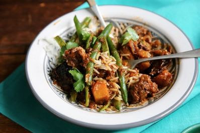 A cheat's beef stirfry with mince