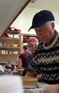 Photo of Yogi Chore clean-up in Kitchen at Well Being Retreat Center