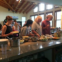 Photo of Meal Service at Well Being Retreat Center