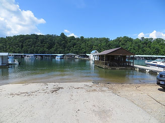 Photo of concrete ramp access to Powell River at Union County Boat Dock