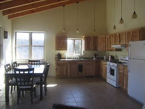Kitchen and Dining Room in Wood Duck Cabin in Tazewell, TN