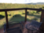 View from Deck of Tiny Houses at Well Bein Retreat Center in Tazewell, TN