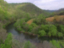 photo of the Powell River which surrounds the Well Being Retreat Center in Tazewell, TN