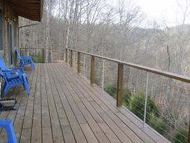 Huge Deck at Wood Duck Cabin at Well Being Retreat Center