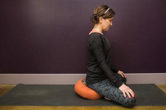 Photo of Meditator on zafu