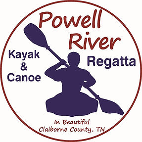 Logo of the Powell River Kayak & Canoe regatta held each spring in Claiborne County, Tennessee