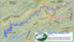 Location of Mountain Pass Campground in the Powell River Watershed in Tennessee