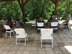 Photo of Social Distanced Seating at the OPen-Air Powell River Pavilion