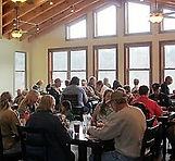 The Dining Room at Well Being Retreat Center in Northeast Tennessee