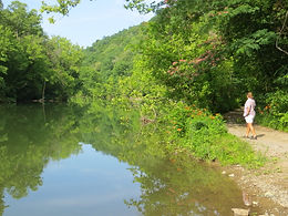 Photo ofLow Bank Access t the Powell River at Gap Creek in Claiborne County, TN