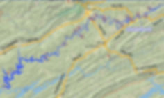 Location of Buchanan Ford Access to the Powell River in Tennessee