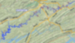 Location of Earl's Hollow access to the Powell River in Tennessee